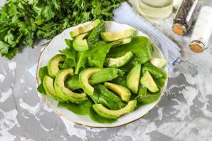 Салат с авокадо и шпинатом - фото шаг 3