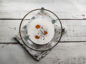 Салат с омлетом и фасолью