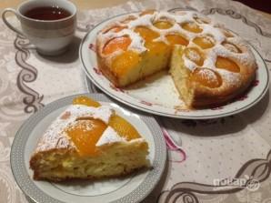 Пирог с консервированными абрикосами - фото шаг 8