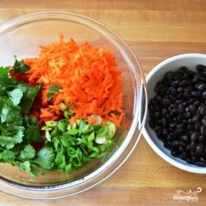 Салат с рисом и креветками - фото шаг 3