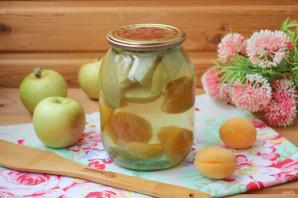 Компот из абрикосов и яблок на зиму - фото шаг 7