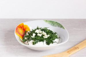 Зеленый салат с пекинской капустой - фото шаг 2