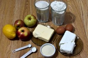 Насыпной пирог с творогом и яблоками - фото шаг 1