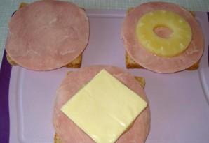 Бутерброды с ананасом - фото шаг 1