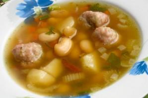 Мексиканский фасолевый суп с фрикадельками - фото шаг 6