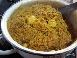 Рис с перепелиными яйцами - фото шаг 6