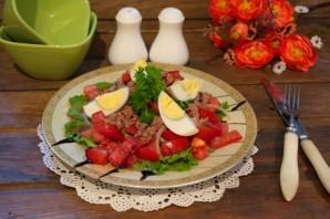 Салат с тунцом консервированным - фото шаг 5