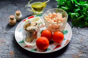 Салат с мидиями и фасолью - фото шаг 1