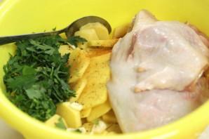 Вкусная картошка с мясом в мультиварке - фото шаг 1