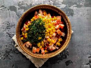 Крабовый салат с маслом - фото шаг 7