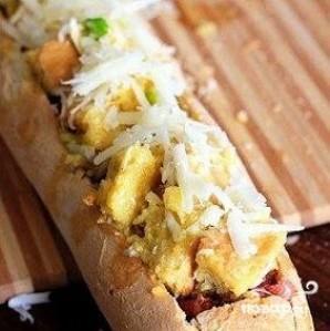 Запеченный багет на завтрак - фото шаг 9