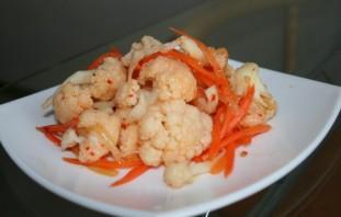 Салат из цветной капусты по-корейски - фото шаг 7