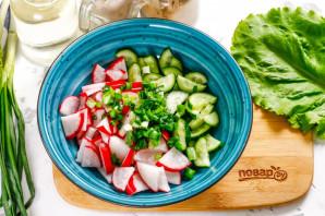 Салат с красной рыбой без майонеза - фото шаг 3
