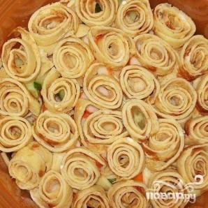 Салат из говядины с омлетом - фото шаг 5