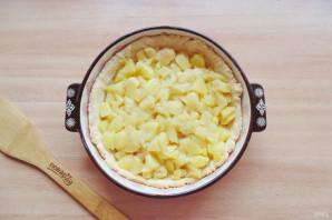 Яблочный пирог с белковым кремом