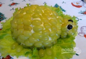 "Салат ""Черепаха"" с виноградом - фото шаг 10"