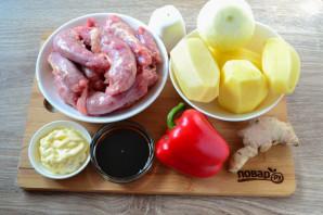 Куриные шейки с картошкой - фото шаг 1