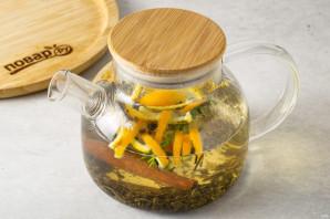 Чай с розмарином и апельсином - фото шаг 4