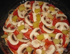"""Пицца """"Курица с ананасами"""" - фото шаг 4"""