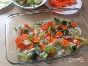 Свиной эскалоп с овощами в духовке - фото шаг 3