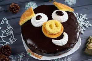 Торт на Новый год Кабана - фото шаг 16