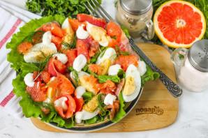 Салат с красной рыбой и грейпфрутом - фото шаг 7