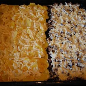 Сморчки запеченные под сыром с картофелем - фото шаг 5