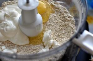 Киш с тыквой и зеленым луком в сырной заливке - фото шаг 1