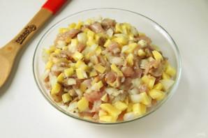 Пирог с картошкой, грибами и курицей - фото шаг 4