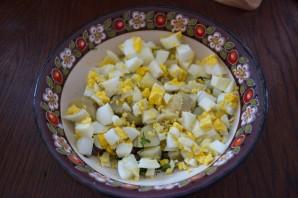 Салат с печенью и сыром - фото шаг 2