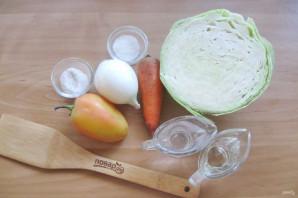 Осенний салат из капусты - фото шаг 1
