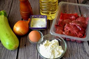 Печеночные оладьи с кабачком - фото шаг 1