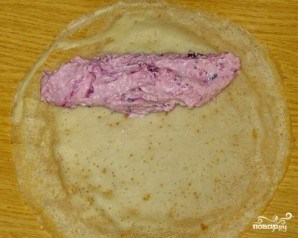 Блинный пирог с творожной начинкой - фото шаг 3