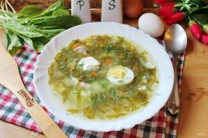 Щавелевый суп с мясом и яйцом - фото шаг 12