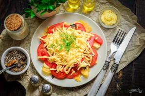 Салат с чипсами и шпротами - фото шаг 8