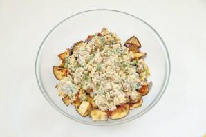Салат с баклажанами и грецкими орехами - фото шаг 6