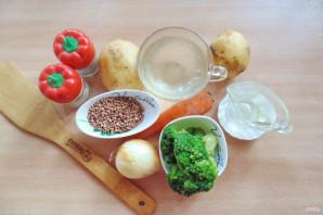 Гречневый суп с брокколи - фото шаг 1