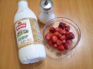 Кефир с ягодами - фото шаг 1