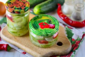 Салат из огурцов с перцем и луком на зиму - фото шаг 10