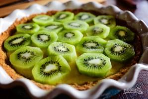 Пирог с киви и взбитыми сливками - фото шаг 10