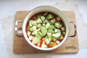 Лечо из кабачков и перцев с томатной пастой - фото шаг 7