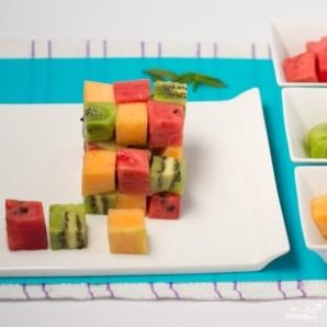 Фруктовый салат кубиками - фото шаг 3
