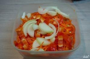 Синенькие с морковкой квашеные - фото шаг 4