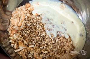 Сладкая колбаска из печенья - фото шаг 4