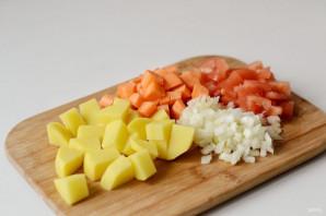 Тушеный картофель с чечевицей - фото шаг 2