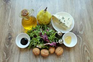 Салат с сыром с плесенью и грушей - фото шаг 1