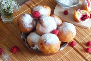 Пончики с малиной - фото шаг 12