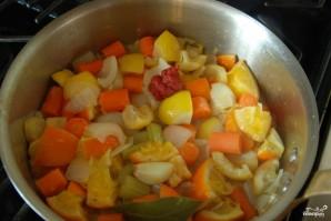 Курица с овощами в цитрусовом соусе - фото шаг 6