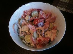 """Салат """"Дачный"""" из свежих овощей - фото шаг 4"""
