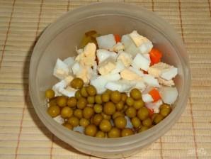 """Салат """"Оливье"""" с куриным филе и горчицей - фото шаг 3"""